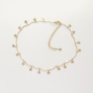 Vy In Style Jewelry - Gold Star Choker Necklace
